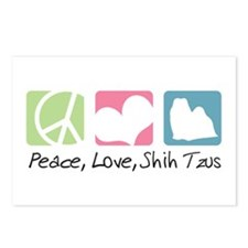 Peace, Love, Shih Tzus Postcards (Package of 8)