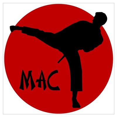 Mac Karate Framed Print