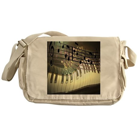 Abstract Piano Messenger Bag