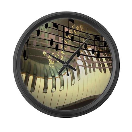 Abstract Piano Large Wall Clock