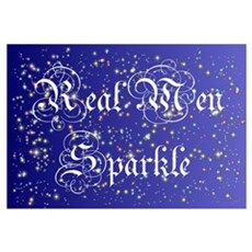 Real Men Sparkle Twilight Canvas Art