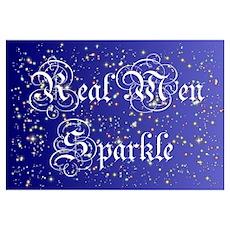 Real Men Sparkle Twilight Poster
