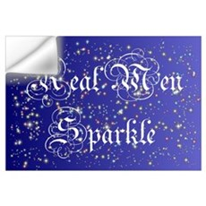 Real Men Sparkle Twilight Wall Decal