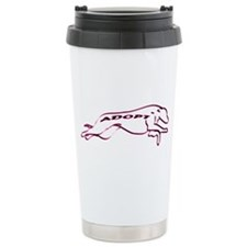 Adopt a Greyhound (Neon) Travel Mug