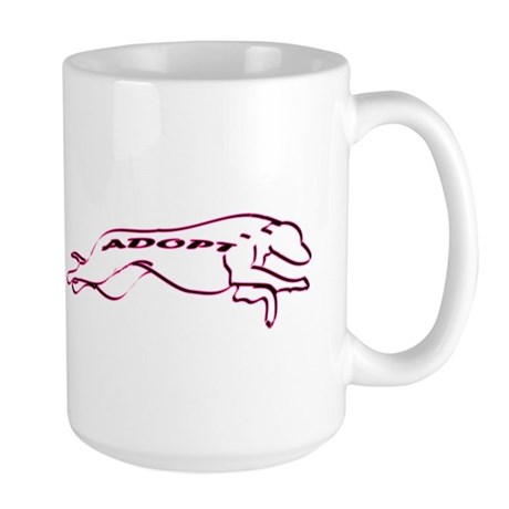 Adopt a Greyhound (Neon) Large Mug