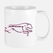 Adopt a Greyhound (Neon) Mug