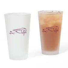Adopt a Greyhound (Neon) Drinking Glass