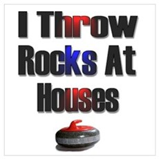 I Throw Rocks At Houses Framed Print