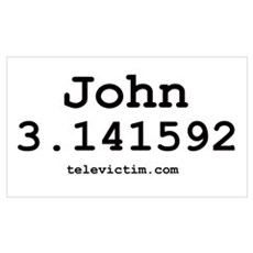 """John 3.141592"" Poster"