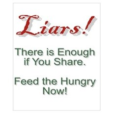 Liars There is Enough Food. Canvas Art