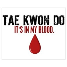 In My Blood (Tae Kwon Do) Canvas Art