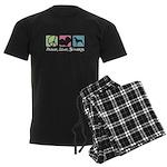 Peace, Love, Brittanys Men's Dark Pajamas
