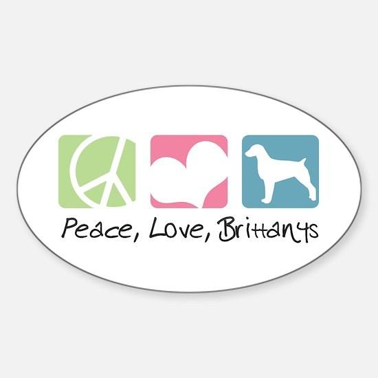 Peace, Love, Brittanys Sticker (Oval)