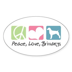 Peace, Love, Brittanys Sticker (Oval 10 pk)
