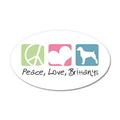 Peace, Love, Brittanys 38.5 x 24.5 Oval Wall Peel