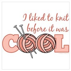 I Liked To Knit Before It Was Cool Framed Print