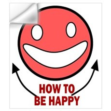 How to be Happy Wall Decal