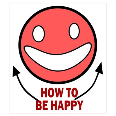 How to be Happy Canvas Art