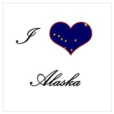 I Love (Heart) Alaska Framed Print