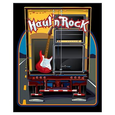 Rock Music Guitar Truck Poster