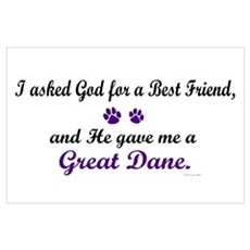 God Gave Me A Great Dane Poster