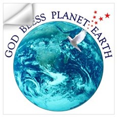 God Bless Planet Earth Wall Decal