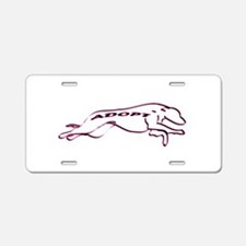 Adopt a Greyhound (Neon) Aluminum License Plate