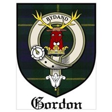 Gordon Clan Crest Tartan Poster