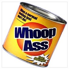 Funny Can Of Whoop Ass Framed Print