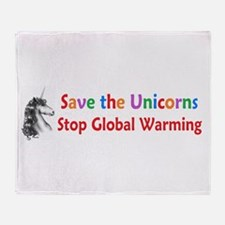 Save the Unicorns! Throw Blanket