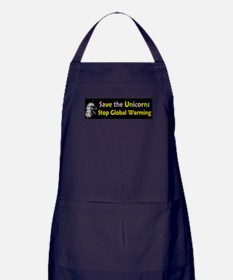 Save the Unicorns! Apron (dark)