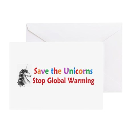 Save the Unicorns! Greeting Cards (Pk of 20)