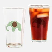 Dottie Elephant Green Drinking Glass