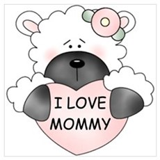 I LOVE MOMMY Canvas Art