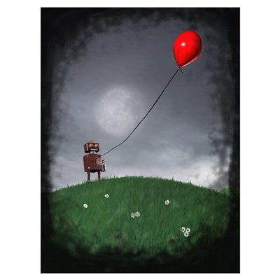 Fly Your Little Red Baloon Poster