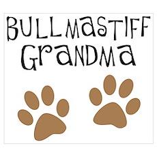 Bullmastiff Grandma Poster