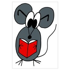 The Reading Mouse Poster