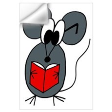 The Reading Mouse Wall Decal