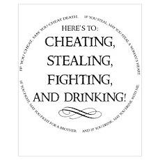 Irish Drinking Proverb Poster