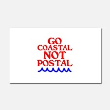GO COASTAL-NOT POSTAL™ Car Magnet 20 x 12