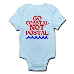 GO COASTAL-NOT POSTAL™ Infant Bodysuit