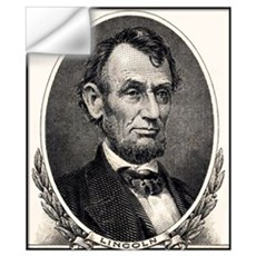 "Abe Lincoln portrait 27x23"" Wall Decal"