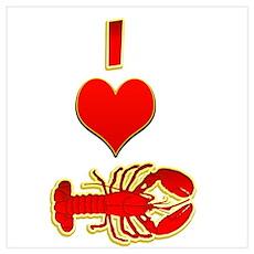 I heart Lobster Poster