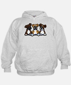 Three Boxer Lover Hoodie