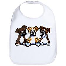 Three Boxer Lover Bib