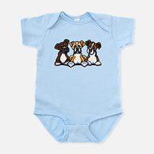 Three Boxer Lover Infant Bodysuit