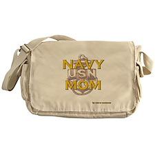 navy mom Messenger Bag