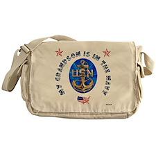 Navy Grandson Messenger Bag