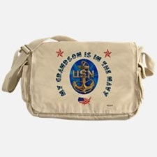 Navy Grandson Messenger Bag