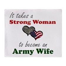 Strong Woman A Throw Blanket